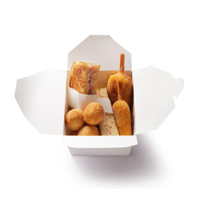 Box buonumore : 2 riso da passeggio, 4 crocchette di patate 2 Pierini