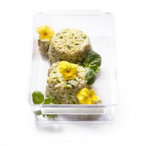 Sformatini di riso alle zucchine