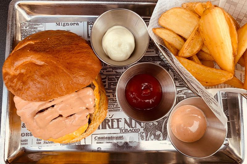 Cream cheese burger